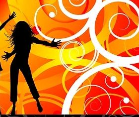 female characters silhouette vectors graphics