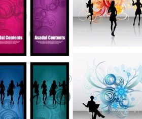 fashionable female silhouette vector