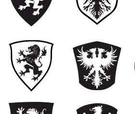 Heraldic Elements graphic vector