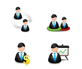 Color Business People Icons vector