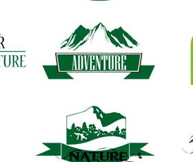 Adventure Labels free vector