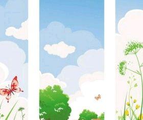 spring banner 04 vector design