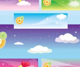 Dream Banners free creative vector