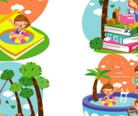 children summer 4 vector