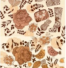 female flower pattern vector