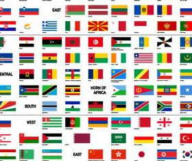 Elements with Flags creative vector