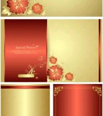 fine pattern cards vector
