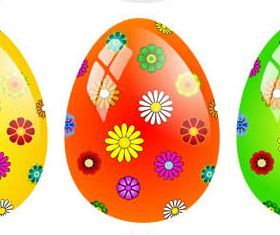 Easter Eggs Set vector graphic