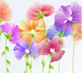 exquisite flowers 03 vector