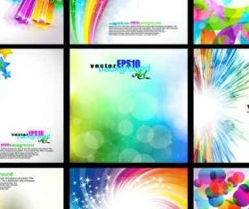Rainbow Backgrounds Collection Set vector graphic