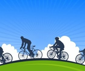 Cycling free vector