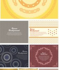 gorgeous shading pattern 01 vector set