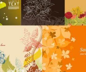 lovely background flowers vector