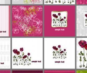 exquisite patterns flowers 01 vectors graphic
