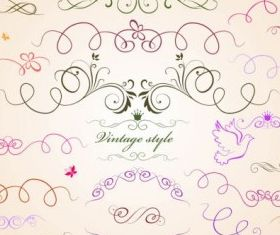 draft line lace pattern vectors graphics