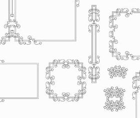 Decorative Vintage Frames 24 set vector