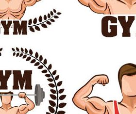 Stylish GYM Logotypes vector