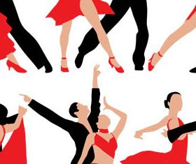 Dancing People 2 vector