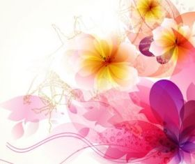 romantic flower background 04 vector set