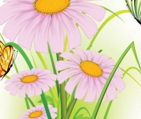 beautiful flowers background 07 vector