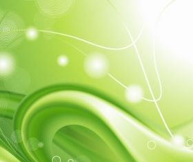 Abstract Green Curves Background Vector vector