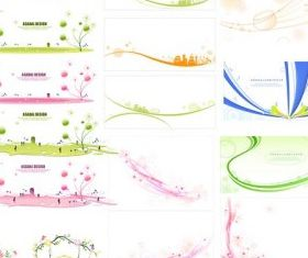 sets simple lace pattern vectors graphics