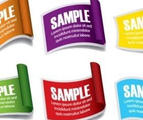 common labels 05 design vectors