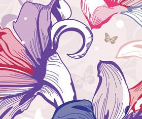 Floral Backgrounds Set 24 vector