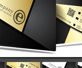 Stylish Business Cards Set 5 creative vector