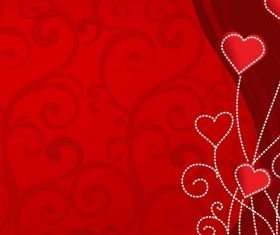 Valentine background vector graphics