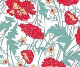 handpainted flower pattern background vector