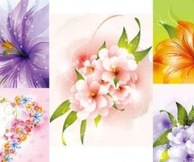 Beautiful flowers Collections art vector graphics