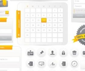 web design navigation menu 01 vector