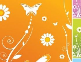 Spring Floral Background vector graphics