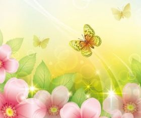 colorful flowers background 04 set vector