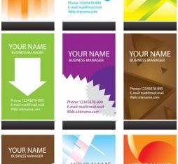 simple business card template vector graphic