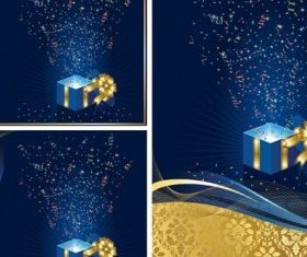 christmas gift background vectors material
