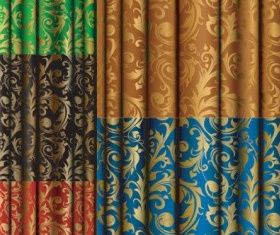 gold fabric pattern creative vector