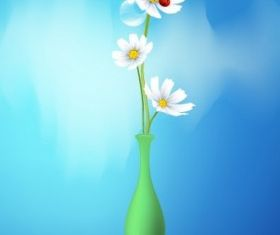 Spring flowers graphic Illustration vector