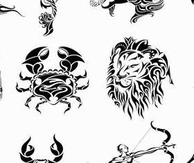 Zodiac Creative Symbols vector