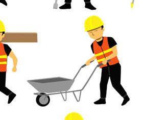 Builders graphic design vector