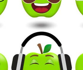 Funny Different Smiles vector