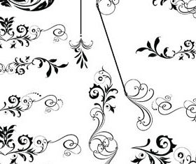 Ornamental Floral Dividers vector graphics