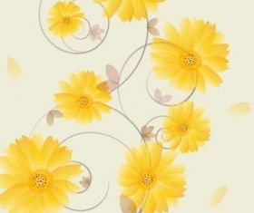 flowers background 04 set vector