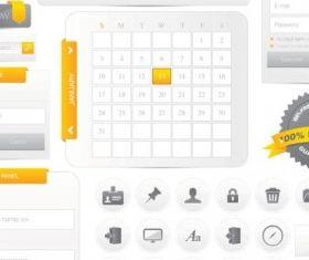 web design navigation menu 01 Illustration vector