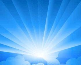 Sun Blue background shiny vector