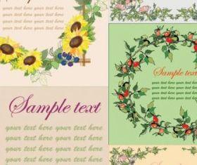 flowers frame set vector