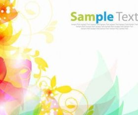 Floral Abstract Background design vector