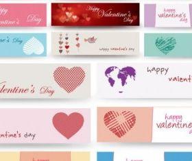 valentine day banner vector