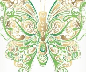 butterfly pattern 04 vector